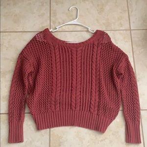 American Eagle burgundy Sweater ❄️